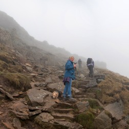 The final climb on Pen-y-ghent