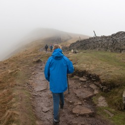 Nearly at the top now and into the cloud