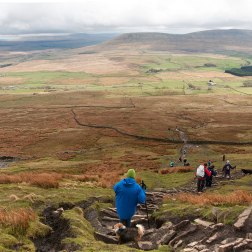 The steep decent from Whernside