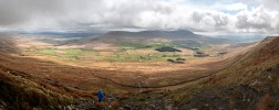 Big view with Ingleborough ahead
